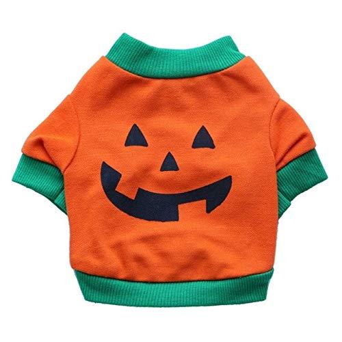 Pet Shirt - Pet Dog Vest Cloth Halloween Pumpkin T Shirt Shirt - Frump Pawl Bounder Domestic Firedog Chase Cad Andiron Detent - 1PCs]()