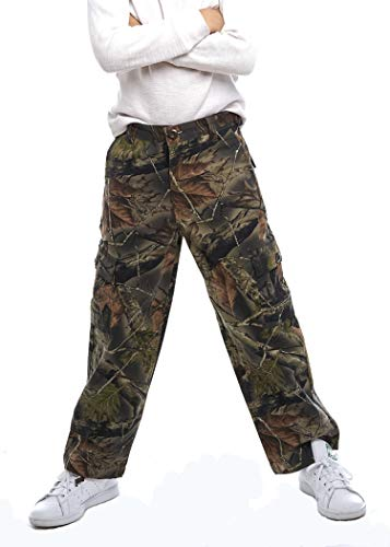 TrailCrest Youth Boys Camo 6 Pocket Hiking/Hunting Cargo Pants