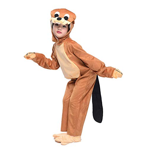 Kids Otter Costume Animals Party Childen Halloween Cosplay Fancy Dress M -