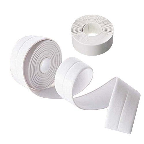 Door Moulding Trim (KaLaiXing Tub and Wall Caulk Strip. Kitchen Caulk Tape Bathroom Wall Sealing Tape Waterproof Self-Adhesive Decorative Trim-White)