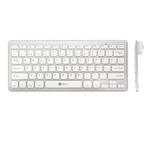 iClever® IC-BK01 - Teclado Inalámbrico (Bluetooth 3.0, iOS/Android/Windows)