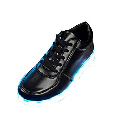 Jamicy Unisex Luminous Black Flashing Schuhe Mode Frauen Aufladung LED Leuchten Mode Turnschuhe USB Weiche Leuchten Mädchen Schuhe fnxfSr