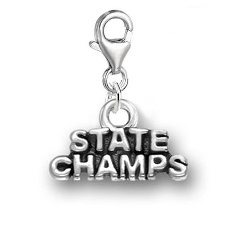 SEXY SPARKLES State Champs Clip On for Bracelet Charm Pendant for European Charm Jewelry with Lobster Clasp