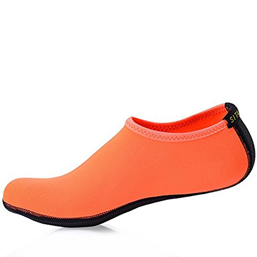 Confortable Enfants Natation Aquatique Sitaile Été Piscine Multisports De Sport Outdoor Unisexe Plage Pur Adultes orange Chaussures qnvXSvwO