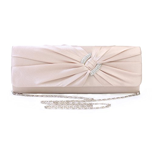 Damara Women Bags Champagne Feminie Evening Satin Handbag R7qnRr8w