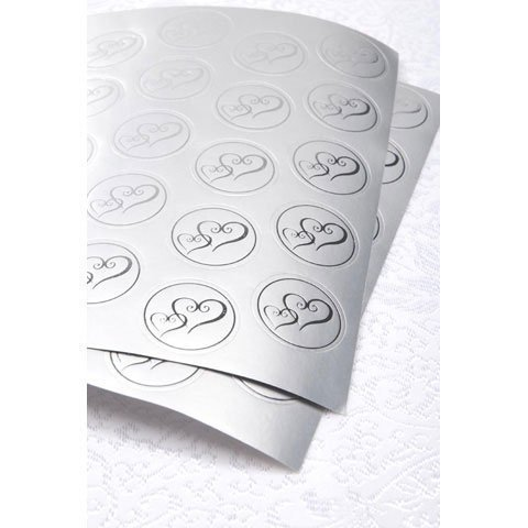 Bulk Buy: Darice DIY Crafts Victoria Lynn Foil Envelope Seals Double Heart Silver 50 pieces (3-Pack) VL3469