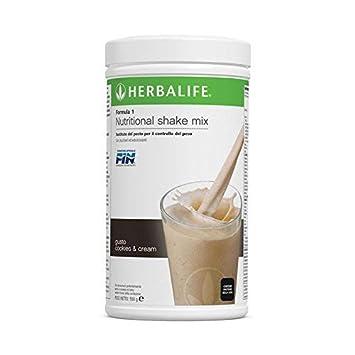 HERBALIFE Batido Formula 1 sabor COOKIES AND CREAM (GALLETA): Amazon.es: Hogar