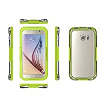 Galaxy S6 WaterProof Case Cover Febe Waterproof Shockproof Dust Sand Proof Cover Case For Samsung Galaxy S6 / S6 Edge Snowproof Cover Case [Full Sealed] Protective Water Resistant Case for Samsung Galaxy S6 Edge - Yellow
