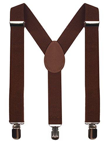 BODY STRENTH Boy Brown Suspenders for Baby Boy Tuxedo Suspenders Solid