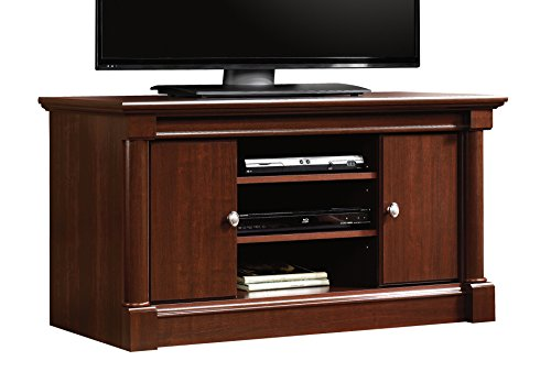 Sauder Palladia Panel TV Stand, Select Cherry - Cherry Finish Pedestal