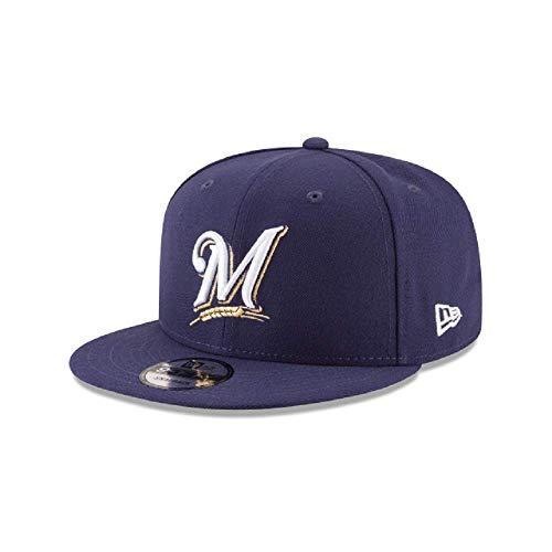 New Era Milwaukee Brewers MLB Basic Snapback Original Team Color Adjustable 950 Cap Navy Blue