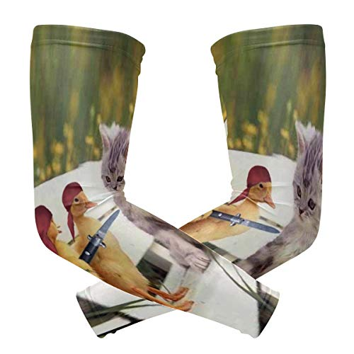 Arm Sleeve Funny Ducklings Cute Cat Sports Compression/UV Protection/Dry-Fast Breathable/Warmth for Men Women Cycling/Golf/Basketball 1 Pair