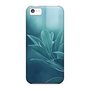 New Arrival Iphone 5c Case Green Leaves Case Cover