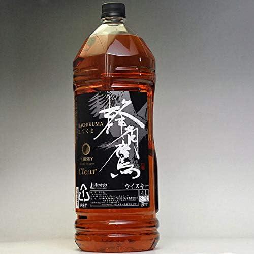 ウイスキー ギフト プレゼント 蜂角鷹 クリア はちくま 4000ml 4L 37度 大容量 業務用 ペットボトル ジャパニーズウイスキー 日本製 日本産 Whiskey