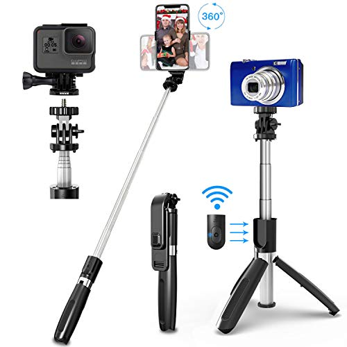 SYOSIN Selfie Stick Tripod, All in One 40 Inch Extendable Phone...
