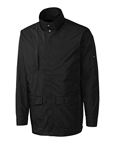Cutter & Buck Men's Water Resistant Lined Jacket, Black, Large