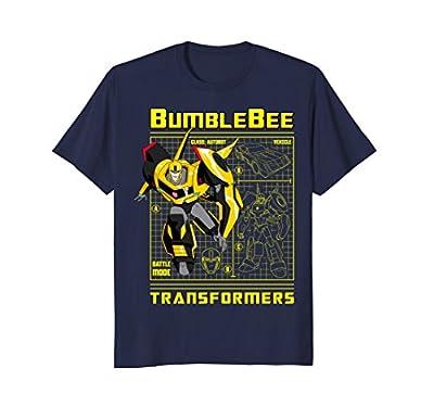 Transformer Bumble Bee Battle Mode Blueprint T-Shirt