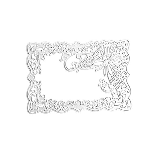 Fyore Cutting Dies for Scrapbooking Foral Picture Frame Metal Stencils Embossing for DIY Scrapbooking Album Making (Hollow Butterfly)