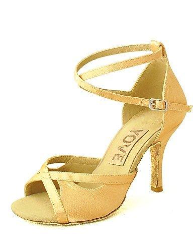 ShangYi Customizable Women's Dance Shoes Latin/Salsa Satin Customized Heel Black/Blue/Yellow/Pink/Purple/Red/White/Fuchsia Purple lX2sYyZ6Zc