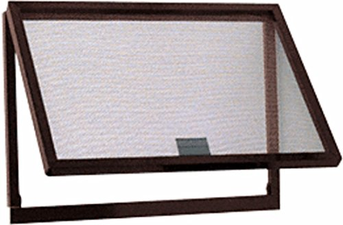 CRL Bronze Finish Aluminum Screen Wicket with Fiberglass Screen Wire by C.R. Laurence