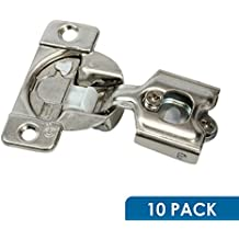 "10 Pack Rok Hardware Grass TEC 864 108 Degree 1/2"" Overlay Custom 3 Level Soft Close Screw On Compact Cabinet Hinge 04431A-15 3-Way Adjustment 45mm Boring Pattern"
