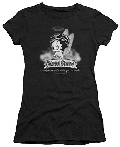- Street Angel Juniors (Slim) T-Shirt Size L (Betty Boop Angel)