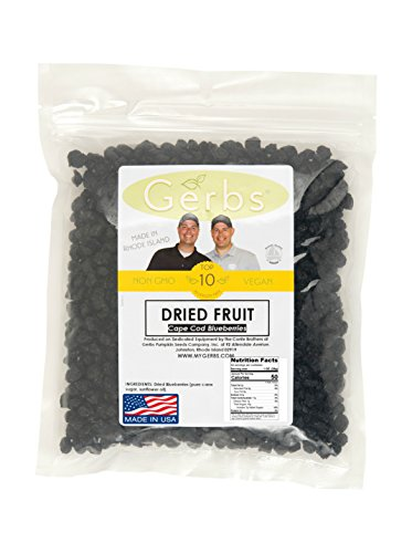 Dried Cape Cod Blueberries by Gerbs - 2 LB Deal - Unsulfured - Top 11 Food Allergen Friendly & NON GMO - Product of USA