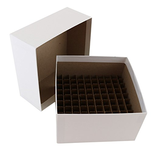 Micro Tube Storage - Cardboard Micro-Tube Storage Box with Lid and Cell Divider, 5 1/4