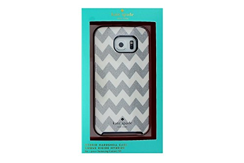 015 Glitter (Kate Spade Hard Shell Case for Samsung Galaxy S6 Glitter Chevron KSSA-015-CVSG)