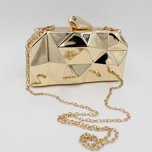 Flada - Cartera de mano para mujer dorado dorado mediano plata