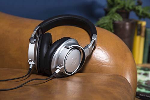 Audio-Technica ATH-SR9 - Auriculares de Diadema Cerrados en Alta resolución, Plata: Amazon.es: Electrónica