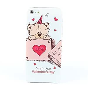 QHY Cartoon Style Lovely Bear Pattern Hard Case for iPhone 5/5S