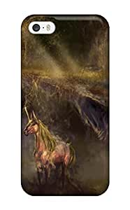 DanRobertse Iphone 5/5s Well-designed Hard Case Cover Unicorn Horse Magical Animal Autumn Forest Y Protector