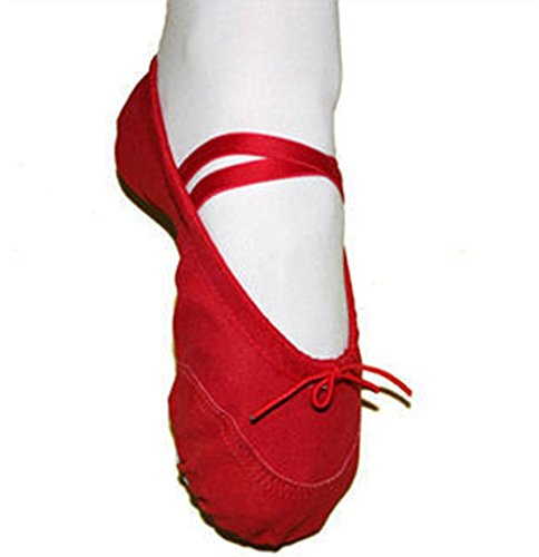 Ballet Dance Shoes,Elevin(TM)2017Canvas Ballet Pointe Dance Shoes Fitness Gymnastics Slippers for Kids Children Girls (7.5-8T, -