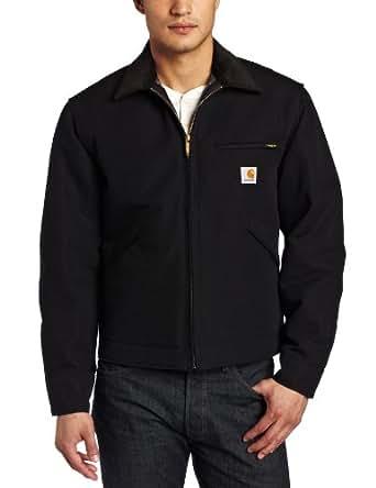 Men's Carhartt Duck Detroit Jacket, BLACK, 2XLT