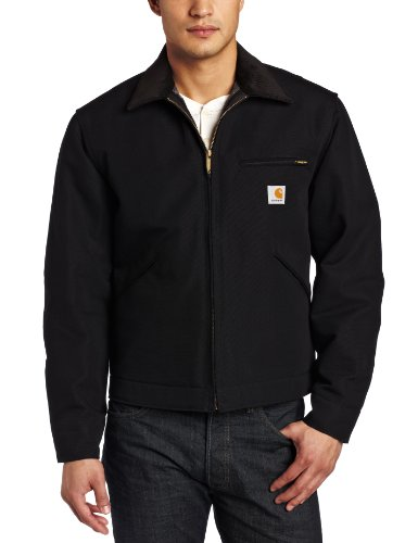 Carhartt Men's Weathered Duck Detroit Jacket J001,Black,Large ()