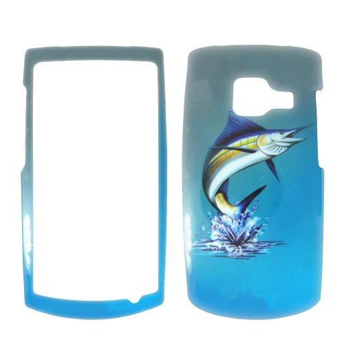 Nokia Blue Phone Faceplates (Nokia X2 T-Mobile - Marlin Fish on Two Tone Blue and White Realtree camo Hard Case, Cover, Snap On, Faceplate)