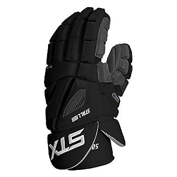 Image of STX Lacrosse Stallion 500 Gloves, Black, Size 14