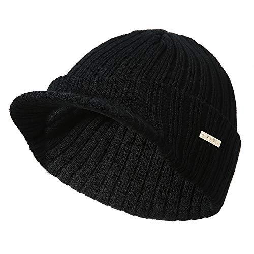 Gorros Mantener Caliente Mujer Unisex Boina Punto de de Negro de Sombrero poliacrilonitrilo Gysad Fibra Invierno Sombrero vCwqBB