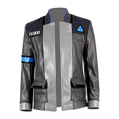 Xiao Maomi Anime Game Become Human Connor RK800 Cosplay Costume for Men Jacket Coat Shirt Halloween Party Uniform Clothing (US Men-L, -