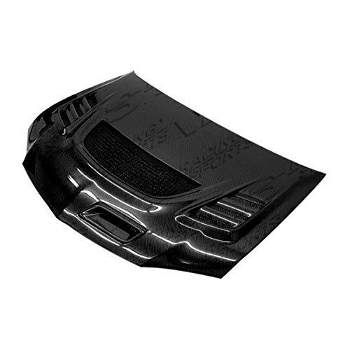 VIS Racing (VIS-XNA-829) G Speed Style Hood Carbon Fiber - Compatible for Mitsubishi EVO 8 2003-2005 (2003 2004 2005 | 03 04 05) (Vis G-speed Carbon Fiber Hood)