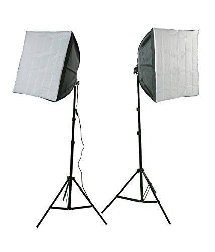 ePhotoInc Photography Video Studio Lighting Kit 2 EZ Softbox