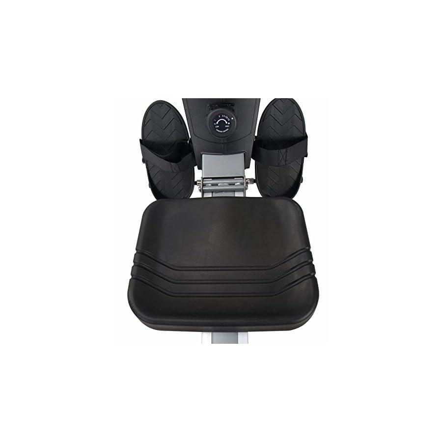 Sunny Health & Fitness SF RW5623 Air Rowing Machine Rower w/ LCD Monitor