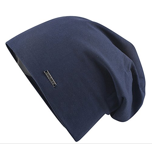 CACUSS Cool Spring Summer Fall Cotton Slouch Skull Cap Beanie Hat [NAVY] (Cool Summer Hats compare prices)