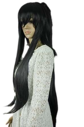 Winson Cute Long Black Straight Women Fashion Sailor Moon Synthetic Cosplay Wig + Free Mesh Net Cap