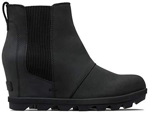 Sorel - Women's Joan of Arctic Wedge II Chelsea Boots, Black, 6 M US -