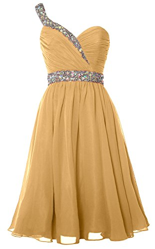 Homecoming Prom Short Champagne Gown Gorgeous Party Shoulder MACloth Formal One Dress HXaw7XqxI