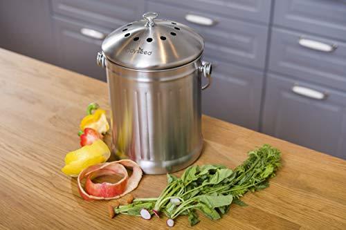 Odyseed Bandeja de Compost, compostador de Cocina en Acero ...