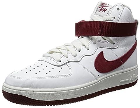 Nike Mens Air Force 1 Hi Retro QS, SUMMIT WHITE/TEAM RED, 9.5 M US