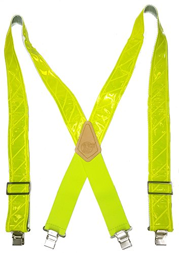 CANARY YELLOW SAFETY REFLECTOR - USA MADE CUSTOM SUSPENDERS - 2